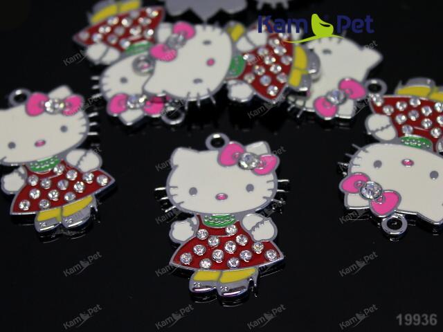 Obří kovový přívěšek Hello Kitty, á 1ks