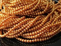 Korálky voskované perly  4mm ZLATÉ