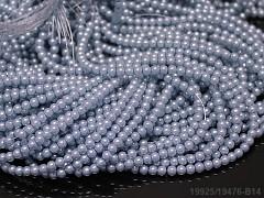 Korálky voskované perly 4mm SVĚTLE MODRÉ
