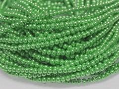 Korálky voskované perly 4mm SVĚTLE ZELENÉ
