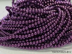 Voskované perly 6mm TMAVĚ FIALOVÉ