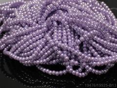 Voskované perly 6mm SVĚTLE FIALOVÉ