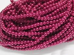 Voskované perly 6mm MALINOVÉ