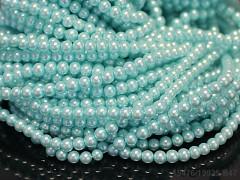 Voskované perly 6mm MODRÉ MOŘE
