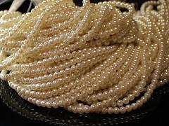 Voskované perly 12mm SMETANOVÉ
