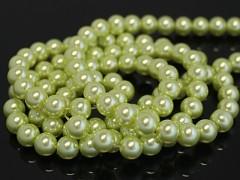 Voskované perly  14mm ŽLUTÉ, bal. 5ks