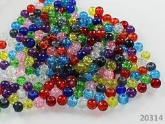 Pestrobarevný MIX korálky práskané 6mm, bal. 28ks