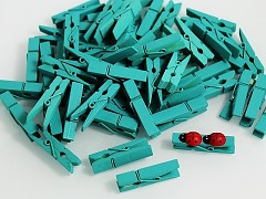 ZELENÉ MINTOVÉ dekorační kolíčky na jmenovky a k dekoraci, bal. 10ks