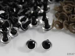 Bezpečnostní oči s duhovkou 9mm  oči na výrobu hraček panenek, bal. 10ks
