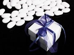 Italské svatební mandle v krabičce TMAVĚ MODRÁ mašle