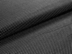 Černá látka s puntíky mini puntíkované plátno ATEST DĚTI,  á 1m