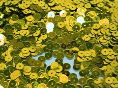 Flitry sypané hladké Ø 6mm ZLATÉ