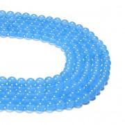Modrý světle JADEIT kuličky 6mm přírodní minerál