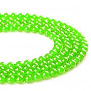 Zelený neon JADEIT kuličky 6mm přírodní minerál