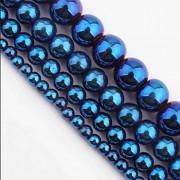 Modrý hematit kuličky 6mm, bal. 10ks