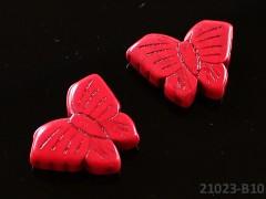 ČERVENÝ HOWLITE motýlek přírodní