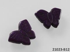 FIALOVÝ HOWLITE motýlek přírodní