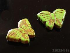 ZELENÝ HOWLITE motýlek přírodní