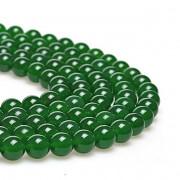 ZELENÝ jadeit kuličky  8mm přírodní, bal. 5ks