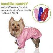 Bundička pro pejska KamPet nepromokavá MODRÁ obleček pro pejska