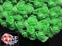 ZELENÉ pěnové růže 25mm s tvarovacím stonkem