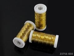 Zlatá vyšívací nit 200m cívka