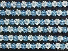 Ozdobný prýmek SVĚTLE MODRÝ leonský prýmek, á 1m