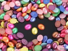 Kabošonky perleťové oválné 10mm MIX, bal. 15ks
