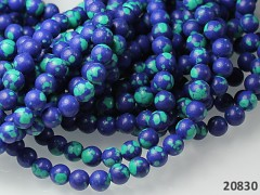 Modrý Lapis lazuli / malachit kuličky  6mm, bal. 10ks