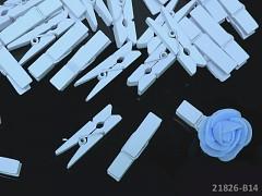 MODRÉ SVĚTLE dekorační kolíčky na jmenovky a k dekoraci, bal. 10ks