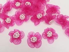 Aplikace ozdoba květinka cyklámová, bal. 5ks