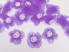 Aplikace ozdoba květinka světle fialová, bal. 5ks