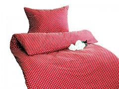 Ložní povlečení červené s puntíky Classic 100% bavlna
