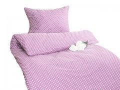 Ložní povlečení růžové s puntíky Classic 100% bavlna