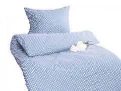 Ložní povlečení světle modré puntíky Classic 100% bavlna