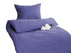 Ložní povlečení tmavě modré s puntíky Classic 100% bavlna