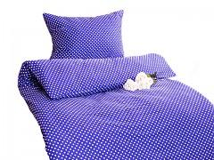 Ložní povlečení nivea modré s puntíky Classic 100% bavlna