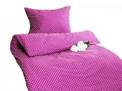 Ložní povlečení cyklám růžové s puntíky Classic 100% bavlna