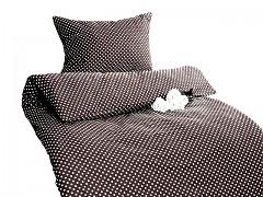 Ložní povlečení černé s puntíky Classic 100% bavlna