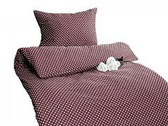 Ložní povlečení hnědé s puntíky Classic 100% bavlna