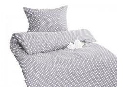 Ložní povlečení šedé s puntíky Classic 100% bavlna