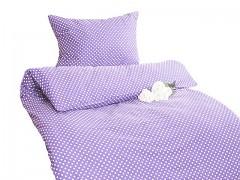 Ložní povlečení světle fialové s puntíky Classic 100% bavlna