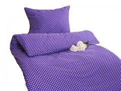 Ložní povlečení tmavě fialové s puntíky Classic 100% bavlna