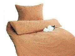 Ložní povlečení oanžové s puntíky Classic 100% bavlna