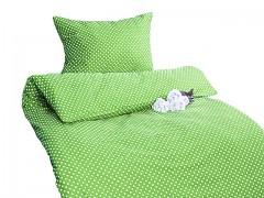 Ložní povlečení limetkové s puntíky Classic 100% bavlna