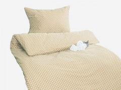 Ložní povlečení béžové s puntíky Classic 100% bavlna