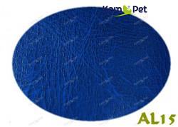 Modrá koženka modrá žíhaná AL15  látka čalounická koženka