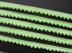 Světle zelený luxusní prýmek bambulky 05, á 1m