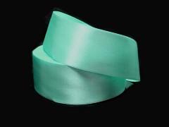 Zelená mintová stuha atlasová 50mm široká stuha šerpa 5cm zelená mint