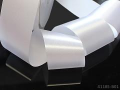 Bílá stuha atlasová 50mm široká stuha šerpa 5cm bílá